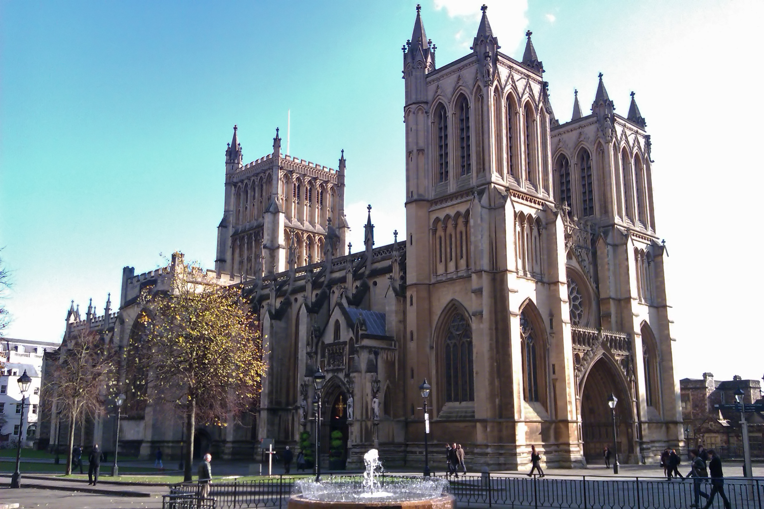 Bristol Cathedral in the sun